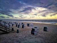 Westerland Strand am Abend
