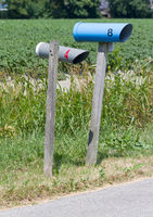 Simple mail box on country home
