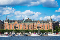 Blick auf die schwedische Hauptstadt Stockholm
