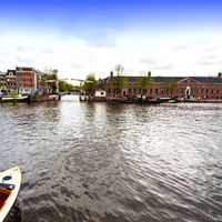 Boat on the Canal of Amsterdam