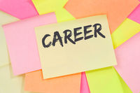 Career opportunities goals success and development business concept note paper