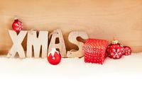 Xmas Weihnachten Header mit Weihnachtskugeln