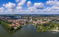 Aerial view of Eutin city in Germany
