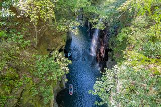 Takachiho gorge and Manai waterfall in Miyazaki, Japan