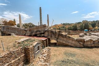 Ancient obelisks in city Aksum, Ethiopia