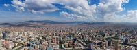 Aerial panorama view of Ulaanbaatar