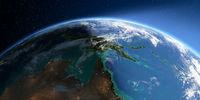 Detailed Earth. Australia and Papua New Guinea