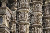 Erotic Sculptures, south wall, VISHWANATH TEMPLE, Western group of temples, Khajuraho, Madhya Pradesh.