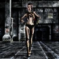 3D Illustration of a Fantasy Female