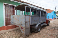 Typical truck bus (camion) in Trinidad,Cuba. Due to embargo Cuba had problems acquiring normal buses.