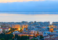 Cityscape Thessaloniki, twilight. Greece