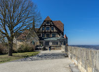View of Veste fortress in Coburg, Bavaria, Germany