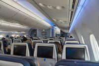 Plane cabin interior