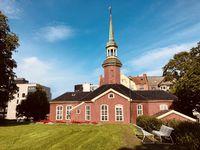 Hölzerne Bakke Kirche in Trondheim, Norwegen