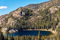 Lone Pine Lake, Rocky Mountains, Colorado, USA.