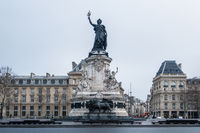 Place de la Republique (Republic Square) in Paris, France