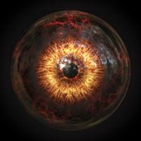 scary devils eyeball
