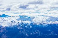 Remarkables View over Queenstown in New Zealand
