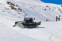 Snowplow at Mountains ski resort Bad Hofgastein Austria