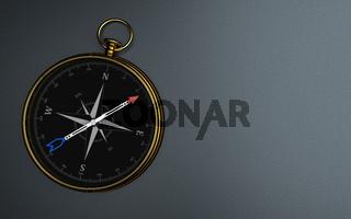 Golden Compass Dark Background