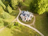 House in the gardens of Richelieu, Indre-et-Loire, Centre-Val de Loire, France