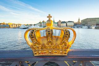 Golden Crown on the Skeppsholmen Bridge in Stockholm, Sweden