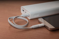 smartphone and  power bank