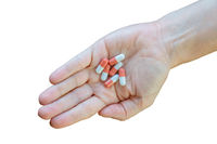 Isolated Hand With PIlls