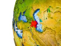 Azerbaijan on 3D Earth