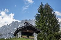 Kapelle im wilden Kaisergebirge in Österreich