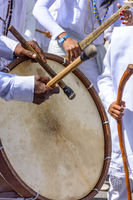 Brazilian ethnic drums in a folk party