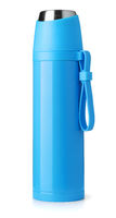 Blue metal thermos