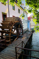 Prague wooden water mill