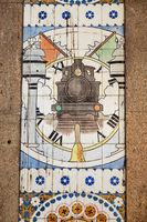 Old tiles mural in Porto, Portugal