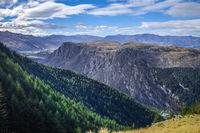 Mountains and forest around Lake Wakatipu, New Zealand