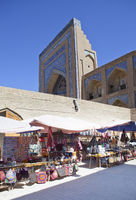 tourist street with souvenirs in the old city. Khiva. Uzbekistan
