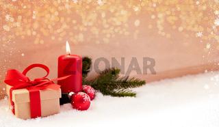 Weihnachten Header zum ersten Advent mit Kerze