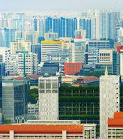 Modern density city architecture Singapore