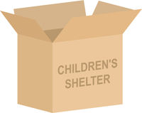 Childrens Shelter Charity Box Vector
