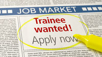 Job ad in a newspaper - Trainee wanted