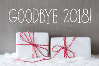 Two Gifts With Snow, English Text Goodbye 2018