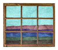 abstract landscape window view