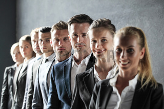 Business team standing in a row