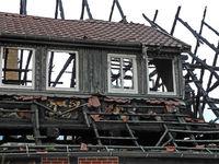 Brandschaden am Dachstuhl eines Hauses