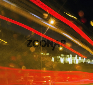 High exposure night time traffic
