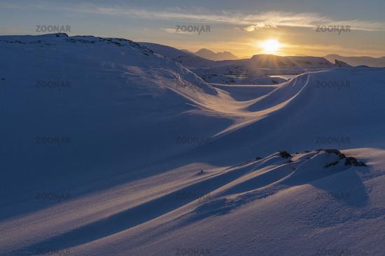 Abendstimmung, Hasvik, Soeroeya, Finnmark