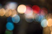 Abstract bokeh lights. Perfect festive background.
