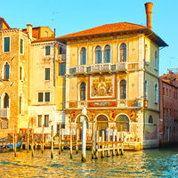 Buildings by the Grand Canal in Venice