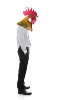 Business man with chicken head