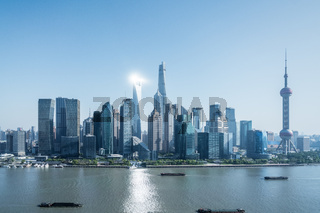 shanghai cityscape of pudong skyline